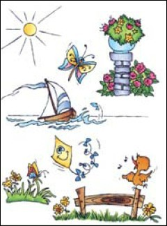 MD: Clear Stamp; Don & Daisy, Theme Summer