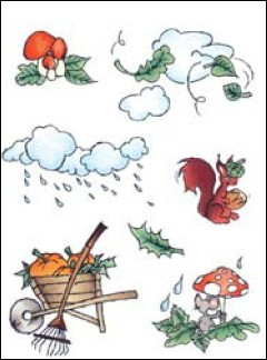 MD: Clear Stamp; Don & Daisy, Theme Autumn