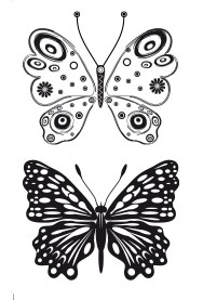 SL: Clear stamp; Butterflies