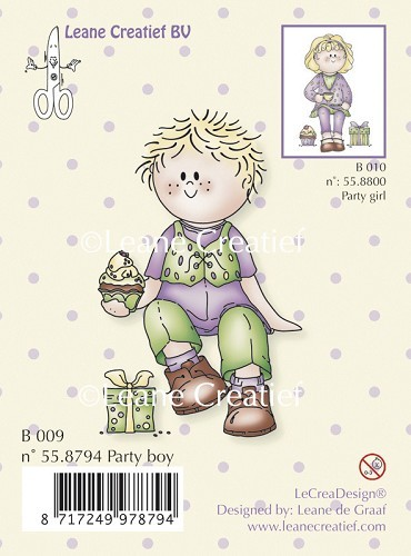 Leane: Clear stamp; Bambini party boy