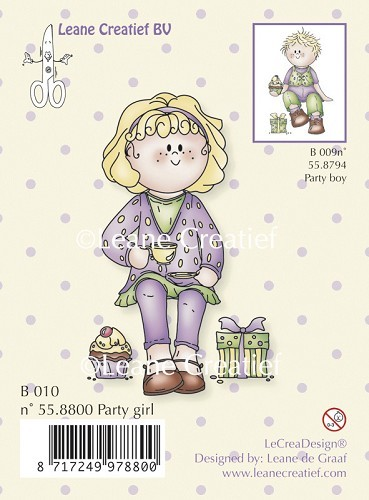 Leane: Clear stamp; Bambini party girl