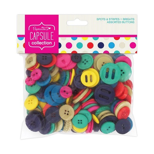 DC: Assorted Buttons 250 grs; Spots + Stripes Summer Brights