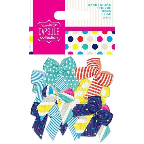 DC: Ribbon Bows 20x; Spots + Stripes Summer Brights