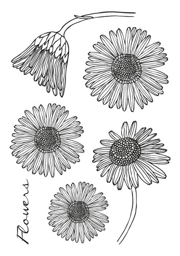 SL: Clear Stamp; Flowers