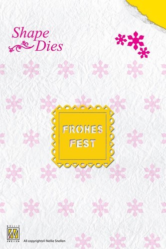 NS: Shape Die Text Frohes Fest (text fits in SD014)