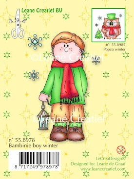 Leane; Clear stamp; Bambini boy Winter