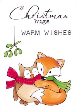 MD: Clear stamp Eline`s Christmas Hugs