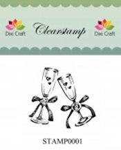Dixi: Clear stamp; Wedding Glasses