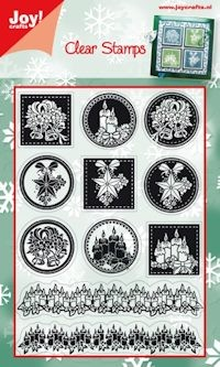 Joy!: Clear stamp; Kerst