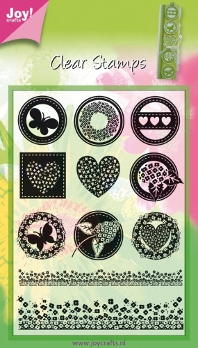 Joy!: Clear stamp; Rond neutraal