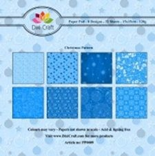 Dixi: Paper Pack 15 x 15; Blue Christmasl pattern