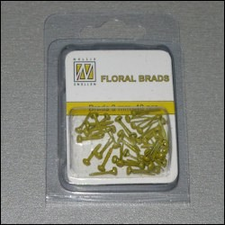 NS: Floral Glitter Brads; Yellow