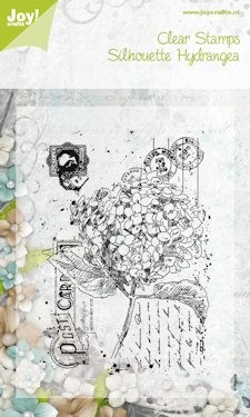 Joy!: Clear stamp; Silhouette stamp hydrangea