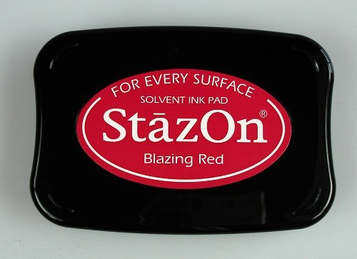 StazOn: Ink pad; BLAZING RED
