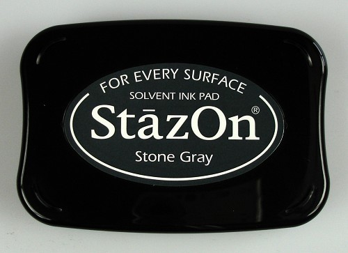 StazOn: Ink pad; STONE GRAY