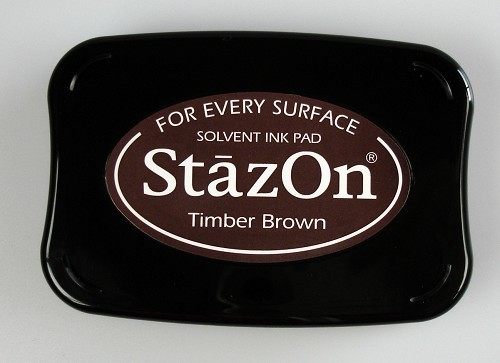StazOn: Ink pad; TIMBER BROWN
