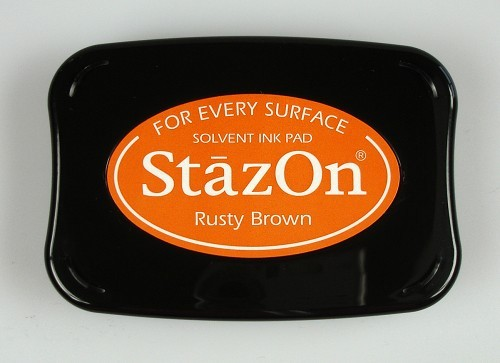 StazOn: Ink pad; RUSTY BROWN