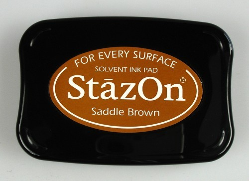 StazOn: Ink pad; SADDLE BROWN