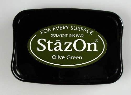 StazOn: Ink pad; OLIVE GREEN