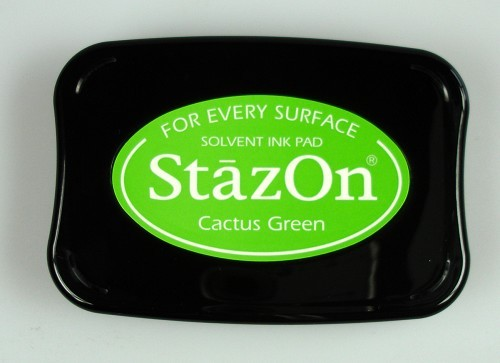 StazOn: Ink pad; CACTUS GREEN