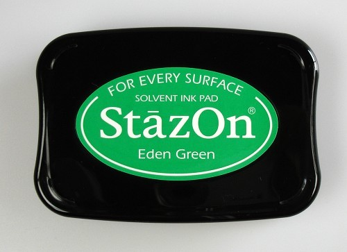 StazOn: Ink pad; EDEN GREEN