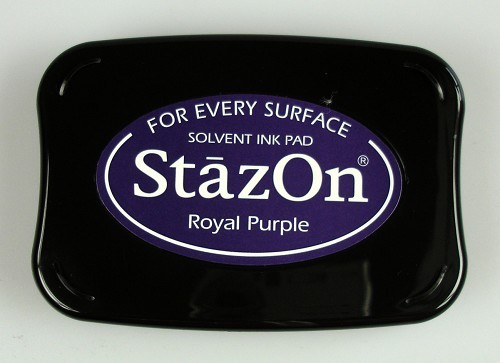 StazOn: Ink pad; ROYAL PURPLE