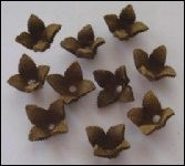 Real Leather Flower 5 pcs; TAN