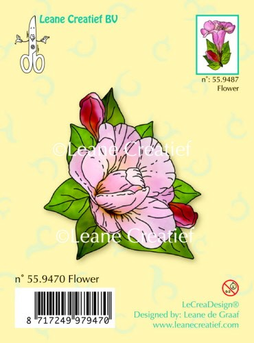 Leane: Clear stamp; Flower