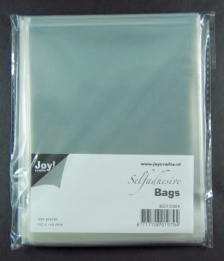 Joy!: 100 x Selfadhesive bags; 110 x 110 mm
