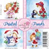 Wild Rose Studio`s: 12 x Printed Panels; Christmas Girl