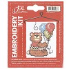 CM: Embroidery Kit; Bear with Balloons