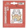 CM: Embroidery Kit; Cat in Basket