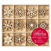 PMA: Large Mixes Wooden Shapes 48 pcs - Snowflakes