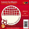 Doodey: Luxury Cardlayers 3 pcs Square: Happy Birthday, Soccer