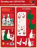 Doodey Stand Easy Cards; Kerst Champagne