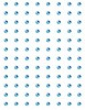 Crafts Too: zelfklevende stenen 96 pcs, 3 mm, Light Blue