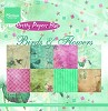 MD: Pretty papersbloc Birds & Flowers 15x15