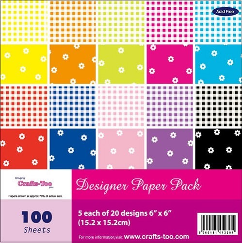 Crafts-Too: Paper Pad 6 x6; Gingham