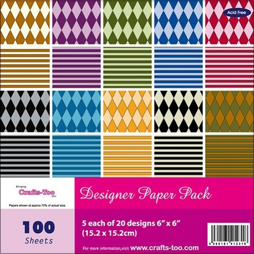 Crafts-Too: Paper Pad 6 x6; Harlequin