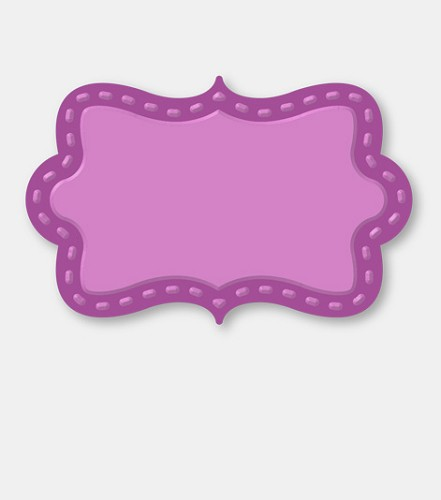 Couture Creations: Die; Decorative Plaque