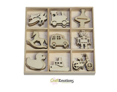 Craft Emotions: Houten ornament; Speelgoed