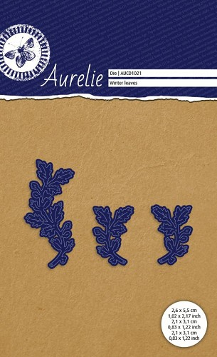 Aurelie: Snij-& Embossingmal; Winter bladeren - Winter leaves