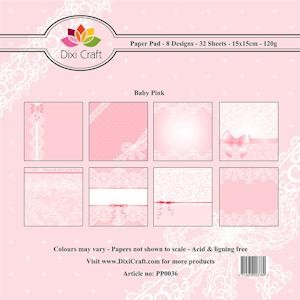 Dixi Paper Pack 15x15 cm Baby; PINK
