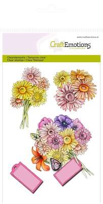 CraftEmotions: Clearstamp A6; Botanical Summer, Boeket