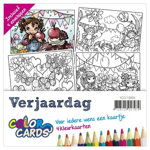Color Cards 4: Yvonne Creations; Verjaardag