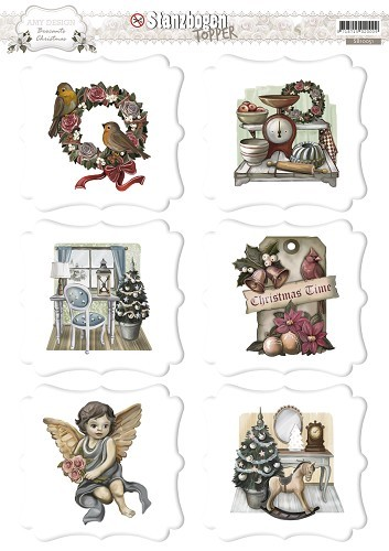 Amy Design: Brocante Christmas; Push out, TOPPERS