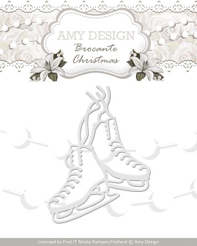 Amy Design: Brocante Christmas; Die, Figure Skates