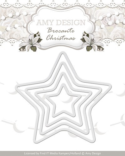 Amy Design: Brocante Christmas; Die, Mini Star Frames