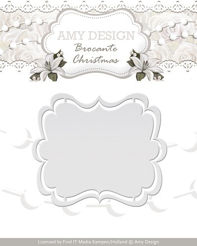 Amy Design: Brocante Christmas; Die, Label