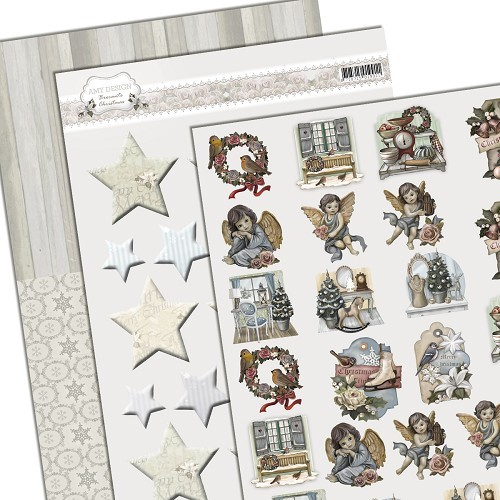 Amy Design: Brocante Christmas; Mini decoupage set